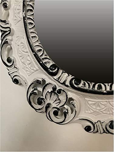 Lnxp Espejo Pared Espejo Ovalado Color Blanco Negro