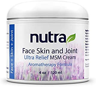 Nutra Face, Skin & Joint, Pain Relief MSM Cream - Organic - Vegan Non-GMO Plant Base Clean Formula, Moisturizer