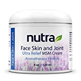 Nutra Health Face, Skin and Joint, Pain Relief MSM Cream - Vegan Based Non-GMO Face Moisturizer - Enriched with Revitalizing Minerals