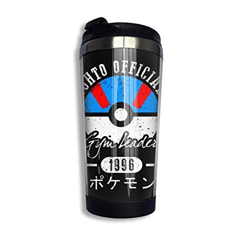 Johto Gym Leader Unisex Taza de viaje de café con tapa Taza de vidrio aislada al vacío de acero inoxidable 13.5 oz