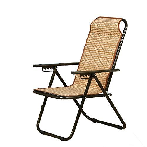 KHL Nouveau 2 Fold Réglable Chaise de Loisirs Portable Pliant Chaise Zéro Gravité Chaise Balcon Bureau Déjeuner Chaise Chaise De Plage Chaise Paresseux Pliant Lit (Color : A)