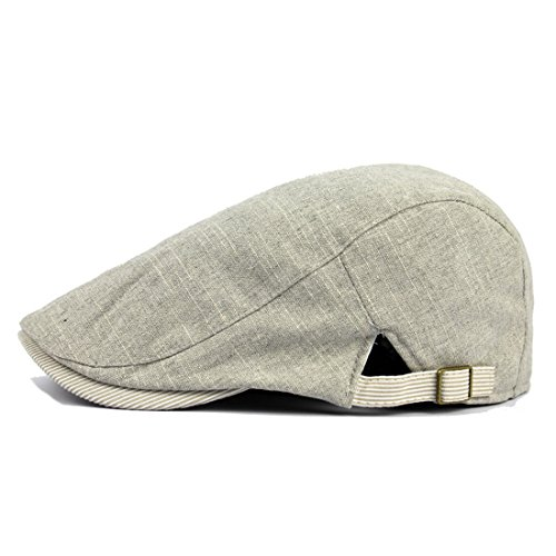 LAROK WAZZIT Leisure Cowboy Cap Washed Dyed Cotton Brown Poly Line Adjustable Denim Flat Caps