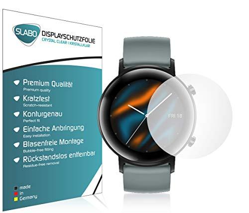 Slabo 4 x Bildschirmschutzfolie für Huawei Watch GT 2 (42mm) Bildschirmschutz Schutzfolie Folie Crystal Clear KLAR