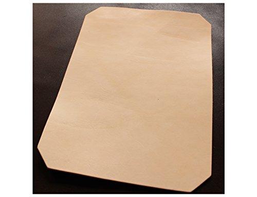 24x33 cm großer Leder Zuschnitt, Blankleder, Dickleder, Punzierleder - kräftige, pflanzlich / vegetabil gegerbte Rindleder, Vollrindleder mit ca. 3,2-3,5 mm Stärke und unverfälschtem Narbenbild,