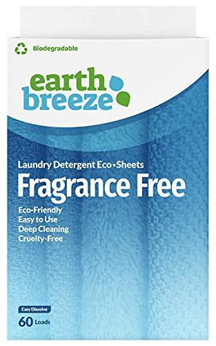 Earth Breeze - Liquid-less Laundry Detergent Sheets -Fragrance Free - Plastic Free (60 Loads) 30 Sheets