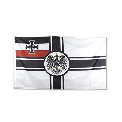 XiaoOu Banderas del Orgullo 90 * 150 cm Imperio alemán DK Reich De 1903 a 1918 Cruz de Hierro Primera Guerra Mundial Bandera del ejército de Alemania, A, 90 x 150 cm