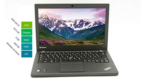 Lenovo ThinkPad X240 31,75 cm 12,5 pulgadas WXGA - Potente ordenador portátil Intel Core i5 2X 1.9GHz 4 GB de RAM 500 GB HDD Win 10 Home teclado de Intel HD Graphics 4400 - 1,42 kg (reacondicionado)
