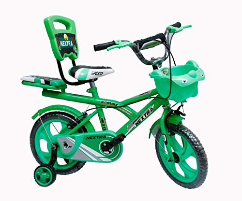 Speedbird 14-T Robust Double Seat Kid Bicycle for Boys & Girls - Age Group 3-6 Years (Green)
