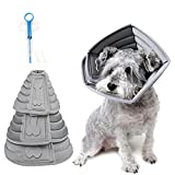 Realove Halskrause Hund Schützender Hundekragen Schutzkragen Krägen Wiederherstellung Schutzhalsbandfür Haustiere (S)