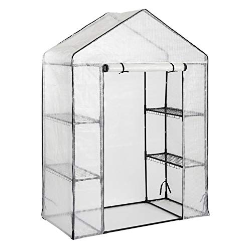 Harbour Housewares Vegetable Fruit Greenhouse with 4 Shelves and Strong Reinforced Cover