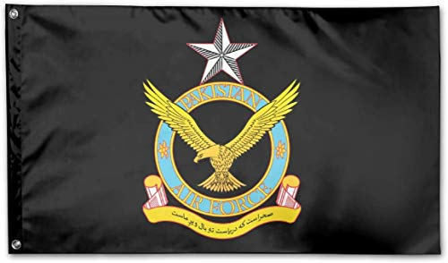 Garten dekorative Flaggen Fahnen Pakistan Air Force Logo Garden Flag 3x5 ft Outdoor Garden Decorative Banner