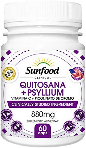 Quitosana + Psyllium 880 mg Sunfood 60 Cápsulas
