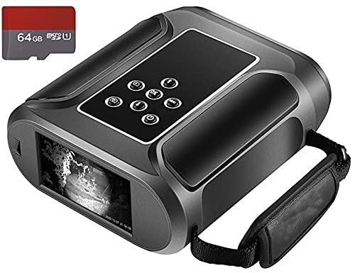 Binoculares de visión nocturna,rango de visualización de 1640 pies,1080p completo Hd Superior 5W infrarrojo,alta sensibilidad.Comas Sensor Noche Goggles for cazar y acampar con 6 4 GB Tarjeta micro