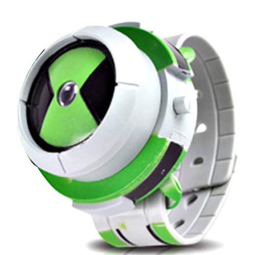 Lispeed Alien Force Omnitrix Illumintator Projector Watch Toy Gift para niños, Projector Watch Kids Digital Wrist Watch