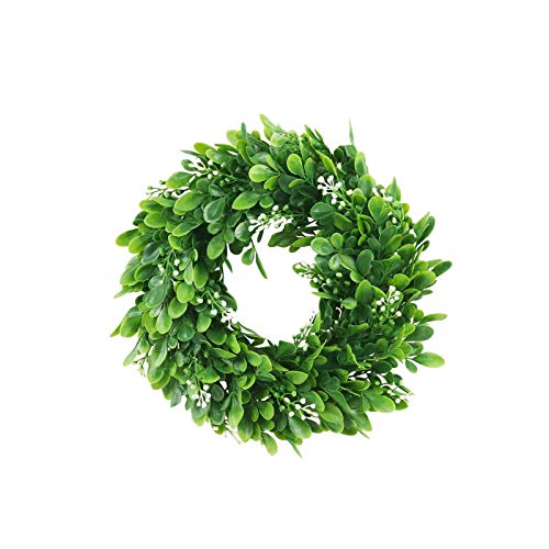 Janly Clearance Sale Wall sticker white simulation garland round leaf decoration sticker , Wall Sticker forHome & Garden , Easter St Patrick's Day Deal (B)