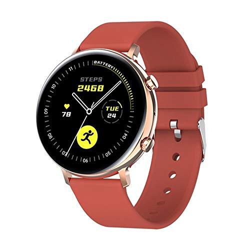 ZWW Reloj Elegante PPG + ECG 2020 Táctil Completa Bluetooth Llamada IP68 A Prueba De Agua Smartwatch Hombres Adecuados para Android iOS del Teléfono Móvil del Reloj De Señoras,C