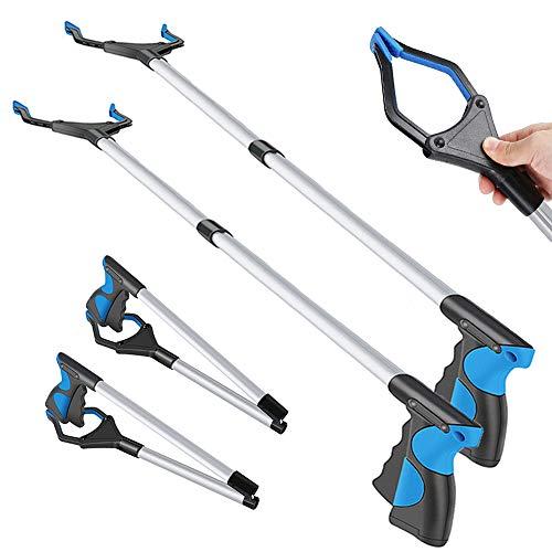 """2 Pack-Grabber Reacher Tool for Elderly, 32"""" Foldable Reaching Claw Grabber, Reacher Grabber Pickup Tool, Trash Gripper, Litter Picker, Garden Nabber, Long Arm Extension, Pick Up Stick Grabber"""