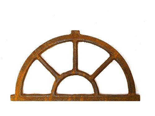 aubaho Nostalgie Stallfenster Bogen Fenster 35x64cm Eisenfenster Eisen antik Stil Rost