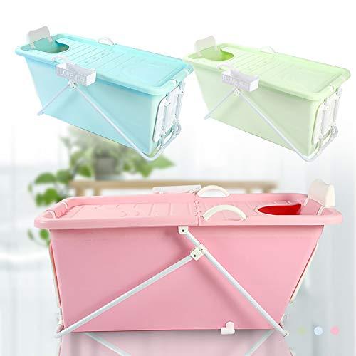 Mobile Badewanne,Faltbare Badewanne,124cm/49inch mit Seifenkorb und tragbar,für Erwachsene und Kinder (rosa)