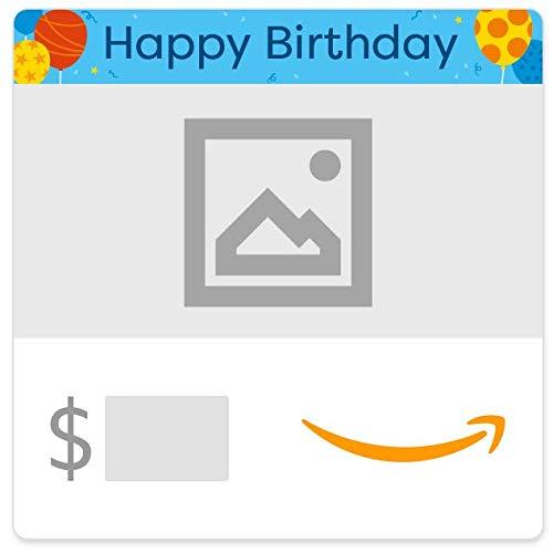 Amazon eGift Card - Your Upload - Birthday Balloons
