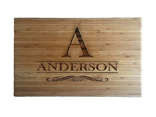Personalized Grayson Style Cutting Board 11 x 17 Bamboo - Grayson Style - OLD LISTING