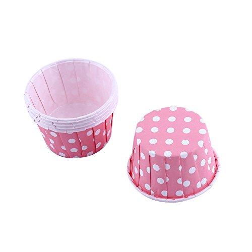 100er Cupcake Förmchen Papier Kuchen Cupcake Liner Fall Wrapper Muffin Baking Cup für Party Hochzeit Weihnachten 7 Farben(Rosa)
