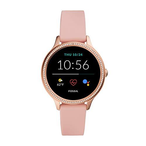 Fossil Damen Touchscreen Smartwatch 5E. Generation mit Lautsprecher, Herzfrequenz, GPS, NFC und Smartphone Benachrichtigungen