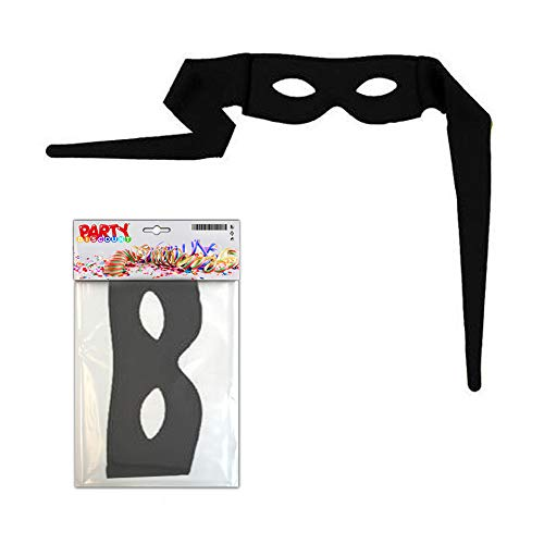 PARTY DISCOUNT Maske Zorro, zum Binden aus Stoff schwarz