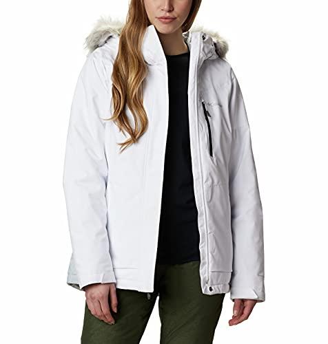 Columbia Womens Ava Alpine Insulated Jacket, White/Cirrus Grey, Medium