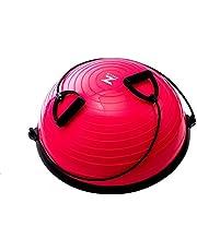Hiram Evenwichtsbal met trekkoord, voor gymnastiek, fitness, krachttraining en evenwichtstraining