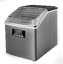 XUERUIGANG Machine à glaçons à Glace, Machine à glaçons de 55 LB / 24H, glaçons carrés glaçons Couverte Transparente gelée...