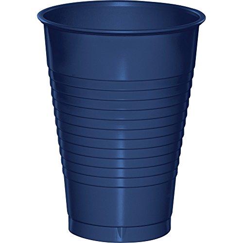 Creative Converting Premium Plastic 12 oz Cups, Navy