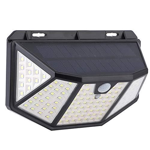 Lámpara de pared solar al aire libre, 3.7v ABS + PC 16x6.5x10.5cm 6000-7000k, blanco para patio al aire libre patio de jardín