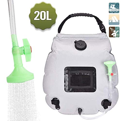20L Outdoor Travel Solar Camping Shower Bag Portable Shower Water Heater Bag/Toilet Photography Windproof Indoor Tent Bathing Household Changing Room Tent Mobile WC Shower,03