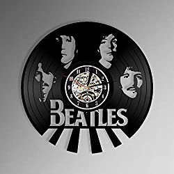 Levescale Beatles Vinyl Wall Clock for Boy, Man Or Woman, Decoration for Room - Paul McCartney Rock Band Classic Rock England Music British Music Record John Lennon Let It Beale -