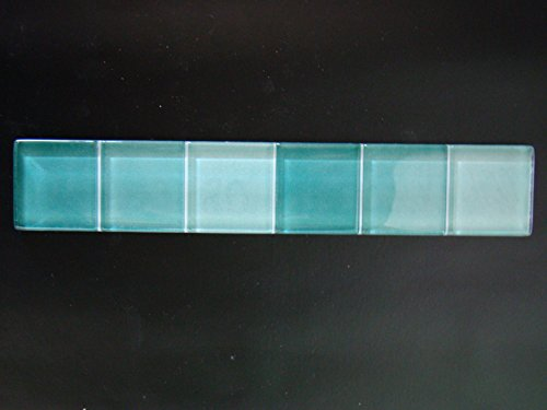 Bordüren, Glasbordüren grün mix 20x3,5cm Sonderposten günstig Mosako