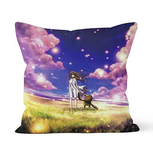 Clannad - Funda de cojín, diseño de Clannad After Story y de Clannad después del HiSTOIREHOME Dormitorio cojín decorativo tamaño 45 x 45 cm