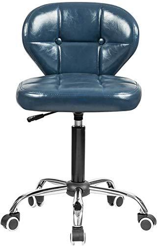 QTQZDD in hoogte verstelbare bureaudraaistoel, met wielen, 360 graden draaibaar, comfortabele rugleuning, 10 cm kussen, maximale belasting 120 kg voor de keuken bar (kleur: zwart, maat: 46-61 cm) 5 5