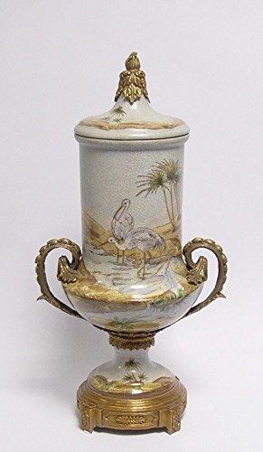 Porzellangefäß Porzellanvase Rokoko Vintage Antik Bronze Vase HxB 46x 24,5 cm