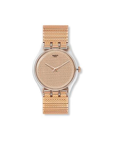 Swatch Reloj Analógico para Mujer de Cuarzo con Correa en Acero Inoxidable SUOK134B