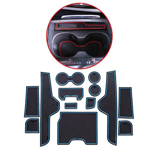Preisvergleich Produktbild Maiqiken Rutschfest Auto Innere Türschlitz Arm Box Aufbewahrung Matten Pads Passt für Regal 2013-2015 High Configuration Version Anti-Staub- Tor-Schlitz-Auflage Schalen-Matte(Blau)