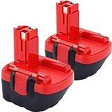 2 X Dosctt 12V 3000mAh Ni-MH Batería de Reemplazo para Bosch BAT043 BAT045 BAT046 BAT049 BAT139 3455 32612 3360K 226123360