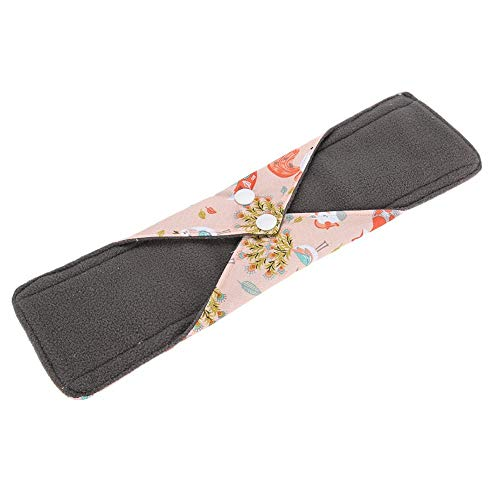 Waschbares Bambuskohle-Anti-Stoff-Menstruationstuch Damenbinde, Sanitäres wiederverwendbares Stoff-Menstruationskissen, faltbares tragbares Bambustuch Mama Damenbinden-Pad(P11)