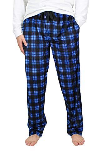 IZOD Men's Advantage Sleepwear Silky Fleece Pajama Pants (Ebony, XXXX-Large)