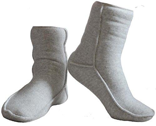 SamWo, elastische Fußwärmer Übersocken Floor 100% Schafwolle (40-43, hellgrau)