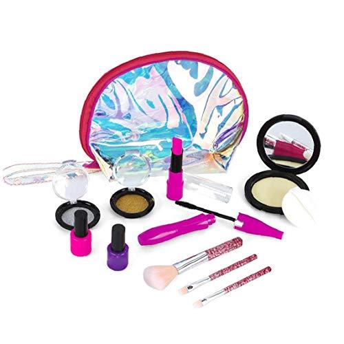 Nicetruc El cosmético Portable del Maquillaje de los niños Maleta de Manera Segura el Juego de simulación de Juguetes educativos Puntales Interactivo para niñas