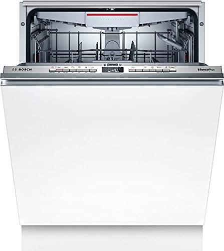 Bosch SGV4HCX48E Serie 4 Geschirrspüler Vollintegriert, 60 cm breit, Besteckschublade, Silence Programm besonders leise, Extra Trocknen auf Knopfdruck, InfoLight roter Lichtpunkt am Boden