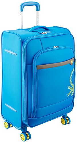 United Colors of Benetton Polyester 80 cms Blue Suitcase (0IP6SPO28P01I)