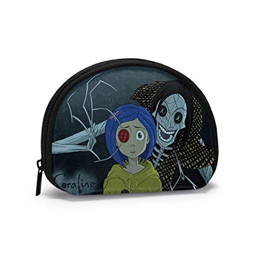 Coraline Shell Storage Bag Women and Girls Cute Fashion Zip Coin Purse Wallet Bag Change Pouch Multifunction Handbag Pouch Organizer