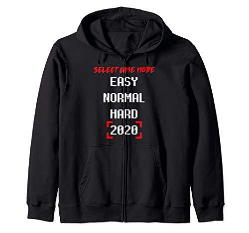 Select Game Mode Easy Normal Hard 2020 Gamer Zocken Zocker Sweat à Capuche